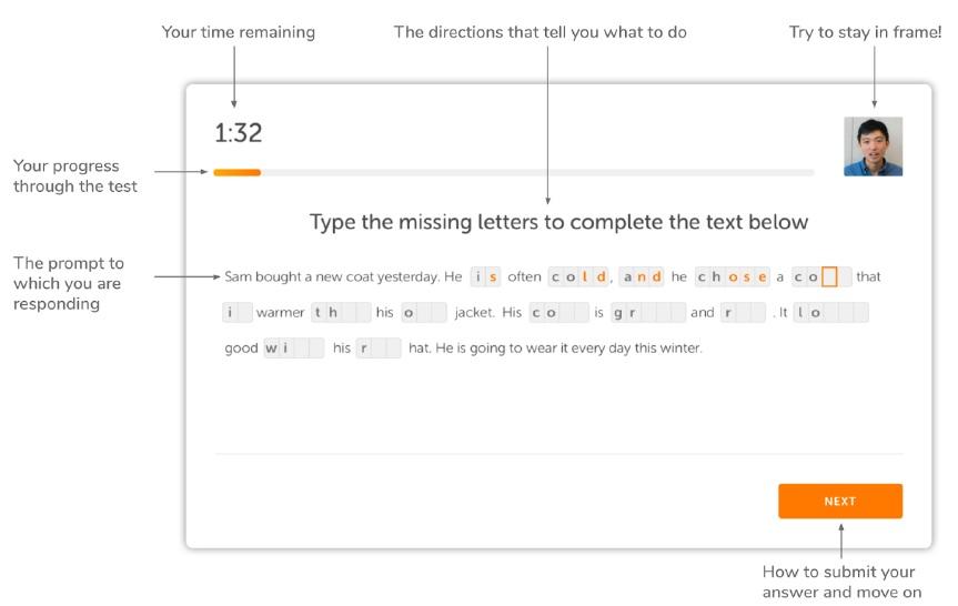 نمونه سوال c-test